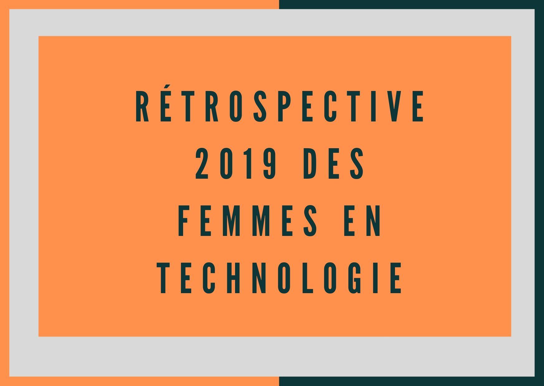 rétrospective 2019 des femmes en technologie